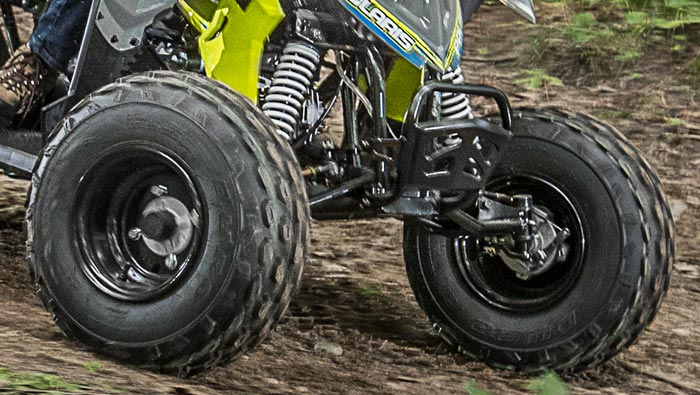 OUTLAW 110 EFI - LONG-TRAVEL FRONT AND REAR SUSPENSION